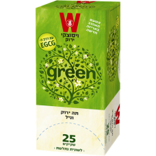 Зеленый чай с ванилью Wissotzky Green tea and vanilla Wissotzky 25 пак*1.5 гр