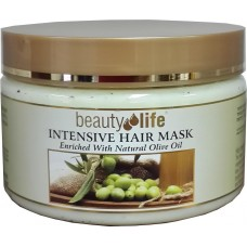 Восстанавливающая маска для волос с оливковым маслом, Beauty Life Intensive Hair Mask Olive Oil 250 ml
