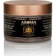 Лечебная маска для волос с аргановым маслом (марокканское масло) и грязью Мертвого моря, Aroma Dead Sea Mud and Moroccan Oil Hair Mask 600 ml