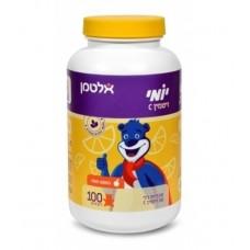 Жевательные мишки витамин С со вкусом малины, Altman Yomi Vitamin C raspberry flavor 100 gummies