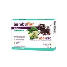 Таблетки с экстрактом черной бузины, пробиотиком и цинком Sambuflor, 60 таб.