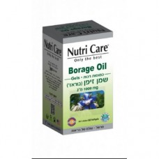 Масло огуречника (бораго) 1000 мг, Nutri Care Borage Oil 1000mg 60Soft gels